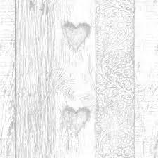 fresco wallpaper plank love heart at wilko com
