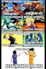 Dragon Ball Z Meme - a visual lesson in friendship by dragon ball z manga therapy