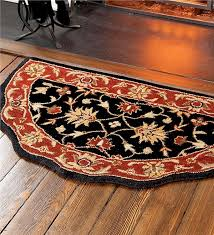 Fireplace Hearths For Sale by Scalloped Wool Hearth Rug Wool Rugs