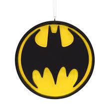 hallmark dc comics batman bat signal tree ornament