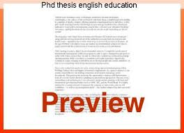 thesis about education in english phd thesis english education custom paper help