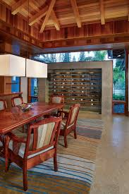 unique wine racks dining room tropical with wood panel ceiling