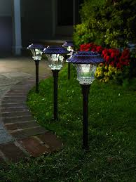 the best solar lights amazon com set of 4 solar garden path lights glass and powder