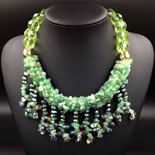 bib necklace designs images Famous brand women jewelry glass statement bib necklace fashion jpg