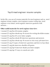 Oil Field Resume Samples by Top 8 Mwd Engineer Resume Samples 1 638 Jpg Cb U003d1431833045