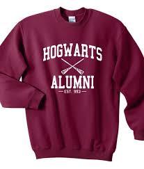 hogwarts alumni t shirt hogwarts alumni harry potter sweatshirts sweater for unisex