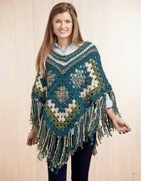 boho crochet boho chic crochet ponchos leisurearts