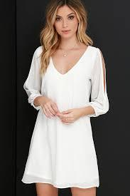 pretty ivory dress shift dress cold shoulder dress 40 00