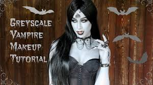 grayscale vampire makeup tutorial youtube
