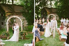 Wedding In Backyard by Colorful Rustic Backyard Wedding In Virginia Washingtonian