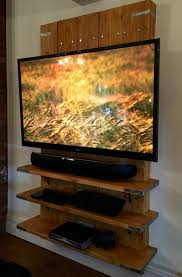 pallet tv wall entertainment center wood projects pinterest
