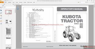 kubota tractor m7040suhd operators manual auto repair manual