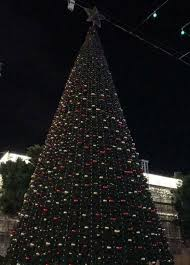 israel and stuff muslims douse bethlehem s tree lights