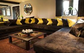 Leather Sofa Decorating Ideas Living Room Design Ideas With Brown Leather Sofa Rectangle Shaped