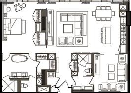 bedroom floor plans deluxe one bedroom floor plan a mandarin citycenter