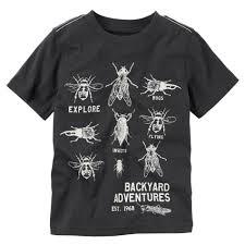 carter u0027s toddler boy u0027s glow in the dark graphic t shirt bugs
