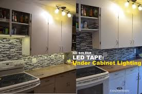 Led Lights For Cabinets Led Tape Under Cabinet Lighting No Soldering 9 Steps With