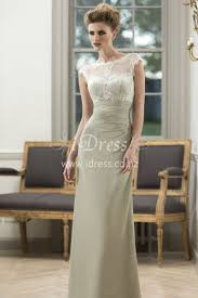 cap sleeves lace bodice keyhole back long sage chiffon bridesmaid