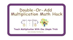 double or add multiplication math hack