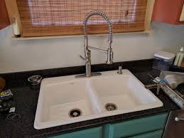 Kohler Brookfield Kitchen Sink Kohler Brookfield Drop In Cast Iron 33 In 4 Bowl