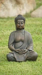 amazon com alpine gem170 buddha statue decoration patio lawn