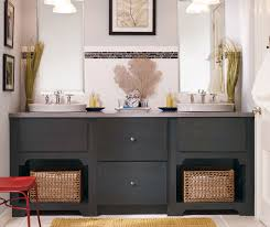 gray bathroom vanity kemper cabinetry