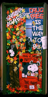 snoopy ribbon ribbon week door decorating contest snoopy agrees