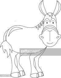outline nativity donkey illustration vector art getty images
