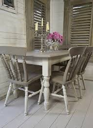 Colonial Dining Room Colonial Dining Room With Shabby Chic Style Using Distressed Slat