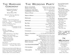 simple wedding program wording the 25 best wedding program sles ideas on how to