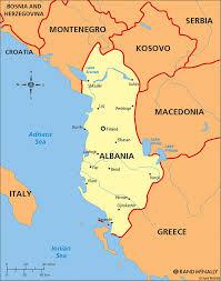 Map Of Albania Albania Ap Human Geo