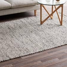 wool rug network carlos felted wool rug grey natural reviews temple webster