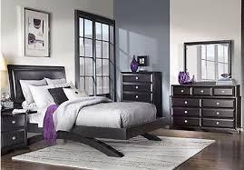 black full bedroom set 7 piece bedroom furniture sets