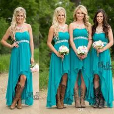 country style bridesmaid dresses 2017 cheapest hi lo country style chiffon bridesmaid dresses a