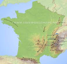 Dordogne France Map by France Physical Map