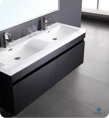 designer bathroom sinks fresca largo black modern bathroom vanity w wavy sinks