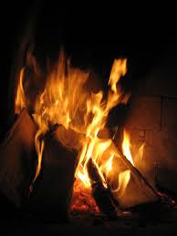 fireplace fire binhminh decoration