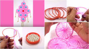 making idea of diy woolen wall hanging for home decoration craft