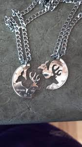 buck and doe couples necklace camo buck doe interlocking necklace his doe buck necklaces