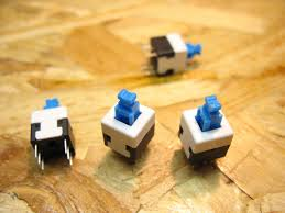 8x8 mm blue cap self locking type square button switch unboxing