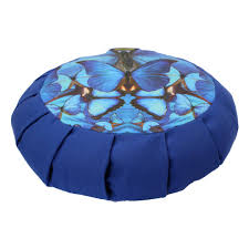 blue butterfly mandala lotus pillow starwater