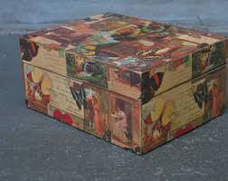 Decoupage Box Ideas - decoupage box etsy