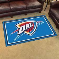 Area Rugs Oklahoma City Oklahoma City Thunder Area Rug Carpet Flooring 4x6 Ebay