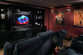 Home Theater Decorating Ideas On A Budget Movie Themed Family Rooms Interior Family Home Theater Room Design