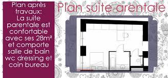 surface minimum d une chambre dessiner le plan d une suite parentale