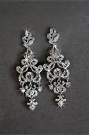 Bridal Chandelier Earrings Vintage Inspired Flawless Zircon Long Wedding Earring Silver