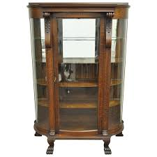 antique curio cabinet with curved glass elegant china cabinet glass replacement curved glass china cabinet