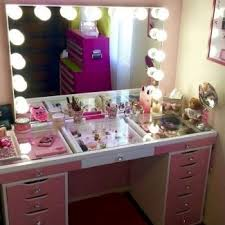 makeup vanity table with drawers makeup vanity table with lights visual hunt