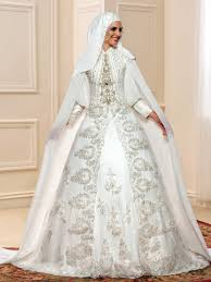 wedding dress muslim luxurious palace beading tassel balll gown court muslim arabic