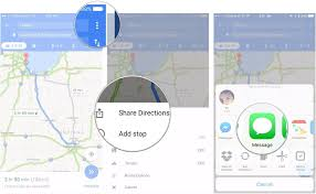 Google Maps Driving Directions Usa by How To Share Location And Directions With Google Maps Imore